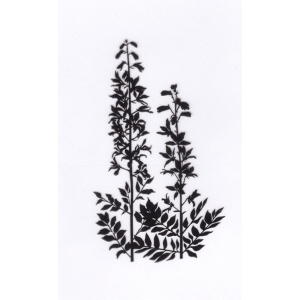 Clear stamps condolence flowers -Leafy stems