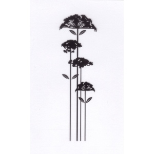 Clear stamps condolence flowers -flower