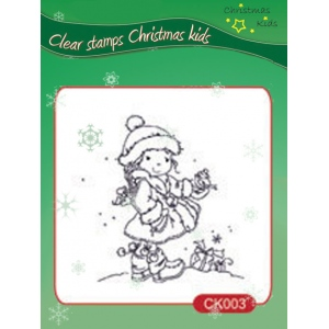 Nellie's Choice Clear Stamps - Christmas Kids - Christmas Birdie