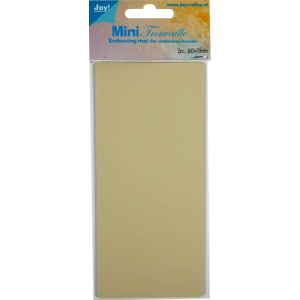 Ecstasy Crafts Joy!  Crafts - Mini- Trouvaille Embossing Mat (2 Pc)