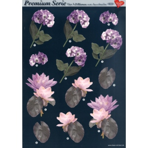Hearty Crafts 3D Premiumserie, 6 Pcs Flowers 06 Cutting Sheets