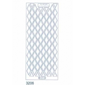 Stitch by Design Stickers - Diamond Border: Transparent Silver