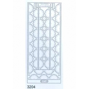 Stitch by Design Stickers - Fancy Edges: Transparent Silver