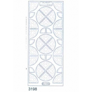 Stitch by Design Stickers - Corners: Transparent Silver