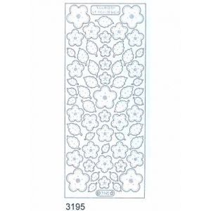 Stitch by Design Stickers - Flowers and leaves: Transparent Silver