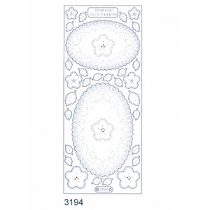 Stitch by Design Stickers - Ovals: Transparent Glitter Silver