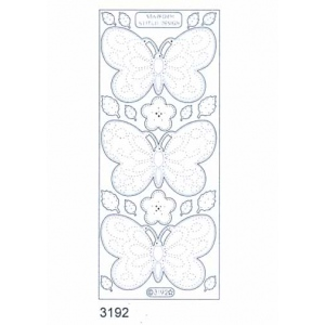Stitch by Design Stickers - Butterfly: Transparent Silver