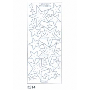 Stitch by Design Stickers - Stars: Transparent Gold