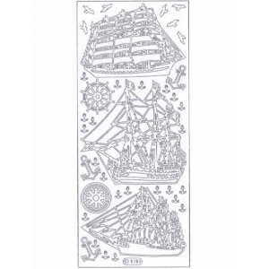 Deco Stickers - Ships: Silver