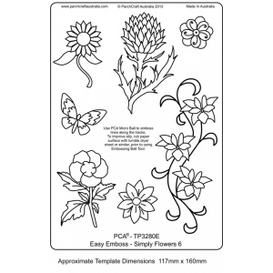 Easy Emboss Simply Flowers 6