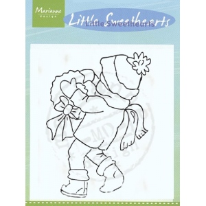Marianne Design Clear Stamps - Little Sweetheart With Wreath
