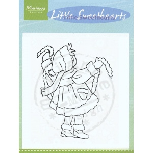 Clear Stamps - Little Sweetheart with Garland