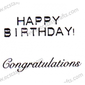 Marianne Design Clear Stamp - Congratulations, Happy Birhtday