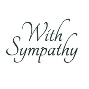 Clear stamp - With sympathy