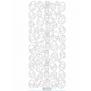 Deco Stickers - Small Eggs: Glitter Gold
