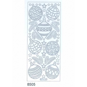Deco Stickers - Christmas Ornaments: Silver
