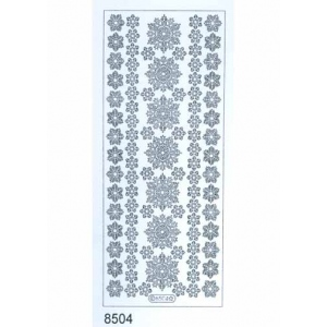 Deco Stickers - Snowflakes: Silver