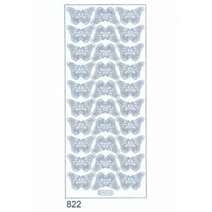 Deco Stickers - Butterflies: Silver