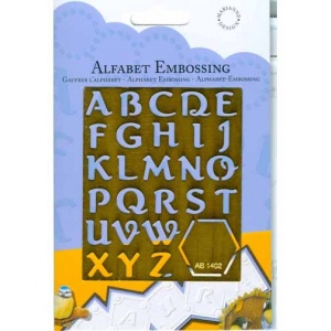 Brass Template - Alphabet 2 (AB1402)