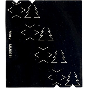 Mery's Cutting Stencil - Christmas Trees and Stars