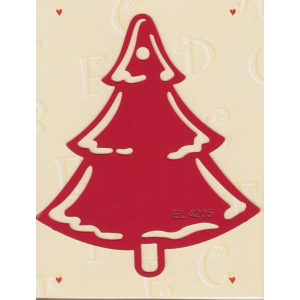 Label Stencil - Christmas Tree (EL4205)