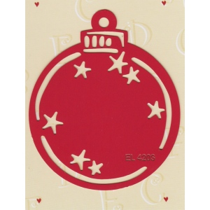 Label Stencil - Christmas Ornament (EL4203)