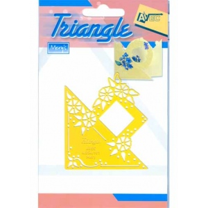 Triangle stencil - morning glories