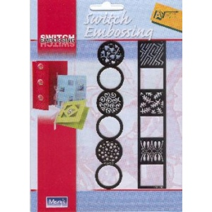 Switch Embossing Stencil - Border Circle/square