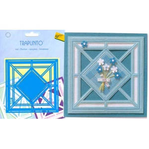 Trapunto Stencil - Diamond Square
