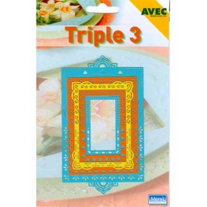 Triple 3 Stencil Rectangle