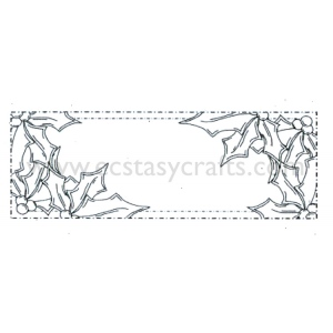 Creative Expressions Ce Foam Stamps - Holly Corner
