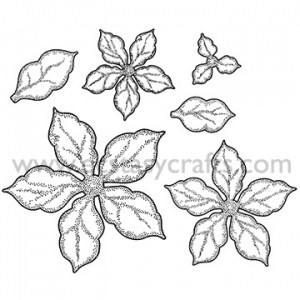 Creative Expressions Ce Foam Stamps - Shaded Poinsettia