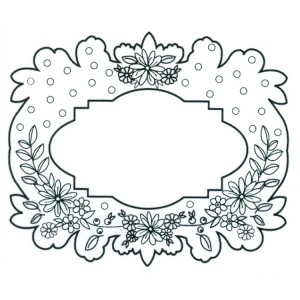 CE Foam Stamps - Floral Garland