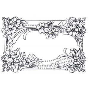 Creative Expressions Cling Stamps - Floral Cartouche