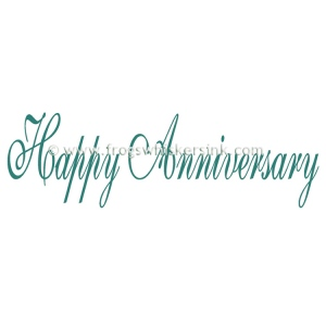 Frog's Whiskers Ink Stamps - Happy Anniversary Script