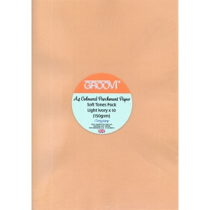 Groovi Soft Tones Parchment Paper: A4, Pack of 10 Sheets