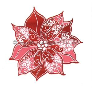 Frog's Whiskers Ink Stamps - Poinsetttia Swirls