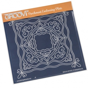 Groovi  Ornate Boxes Plate A5 Sq