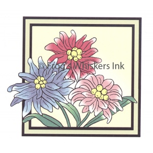 Frog's Whiskers Ink Frog's Whiskers Stamps - Flower Tile
