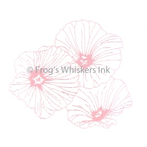 Frog's Whiskers Ink Frog's Whiskers Stamps - Lavatera