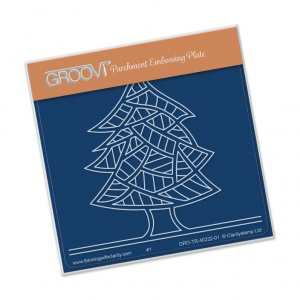 Groovi Abstract Trees (Tree Lines) Plate A6 Sq