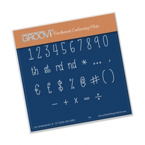 Groovi Hand Drawn Numbers Case A6 Plate