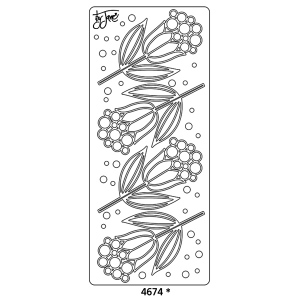 Peel Off Sticker -Candi Flower 3 Jane: Black