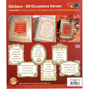 All Occasions Verses - Transparent Gold/Silver: Transparent Gold