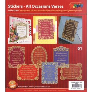 All Occasions Verses - Transparent Gold/Silver: Transparent Silver