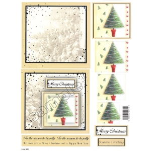 Craft UK Card Kit Christmas Tree