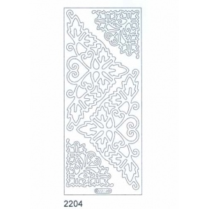 Deco Stickers - Corners: Silver