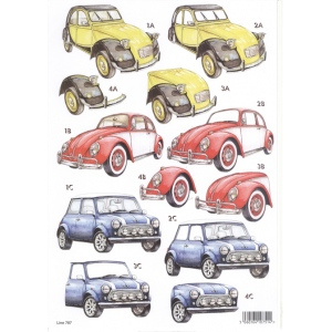 Craft UK 3-D Precut Sheet - 2 CV
