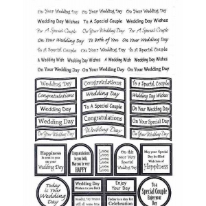 Craft UK Caption - wedding silver foil