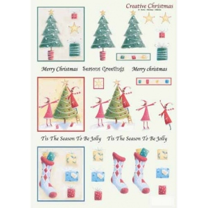 Craft UK  Creative Christmas Window Decoupage Trees